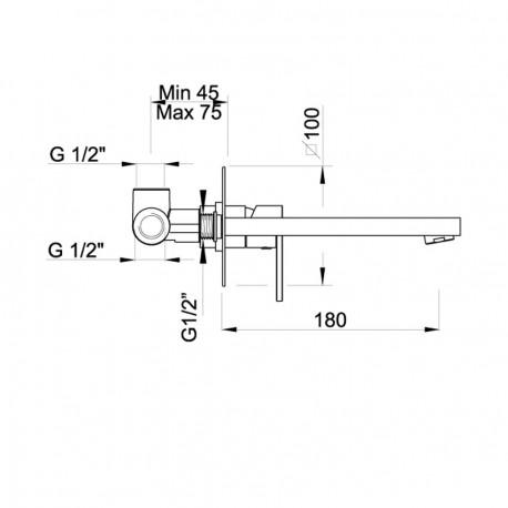 Baterie termostatica incastrata PONSI IN01-02