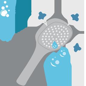 sistem de amestec al apei cu aerul